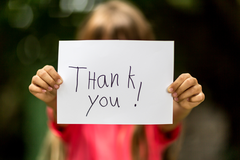 Saying Thank You: Creative Ways to Teach Your Child Gratitude